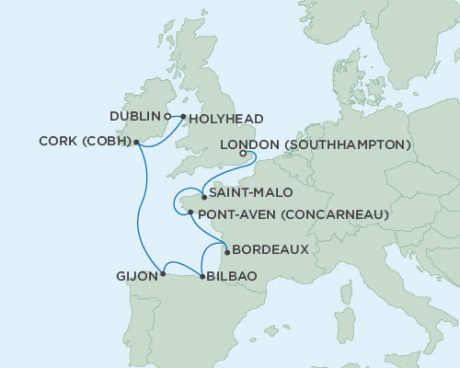 Seven Seas Voyager June 16-26 2016 London (Southampton), England to Dublin, Ireland