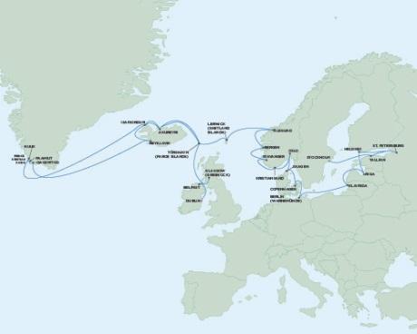 SINGLE Cruise - Balconies-Suites Seven Seas Voyager June 26 August 2 2019 Dublin, Ireland to Stockholm, Sweden