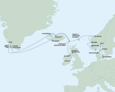 LUXURY CRUISE - Balconies-Suites Seven Seas Voyager June 26 July 23 2019 Dublin, Ireland to Copenhagen, Denmark