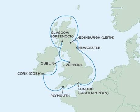 Singles Cruise - Balconies-Suites Seven Seas Voyager June 6-16 2019 London (Southampton), England to London (Southampton), England