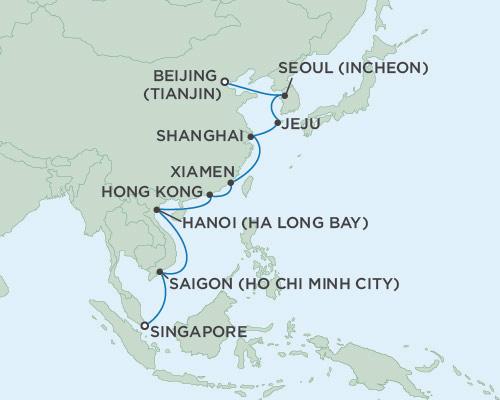 Radisson Luxury Cruises -  Voyager March 25 April 12 2021 Beijing (Tianjin), China to Singapore