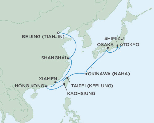 SINGLE Cruise - Balconies-Suites Seven Seas Voyager March 7-25-2016 Tokyo, Japan to Beijing (Tianjin), China