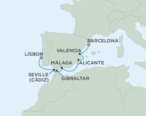 Singles Cruise - Balconies-Suites Seven Seas Voyager May 23-30 2019 Barcelona, Spain to Lisbon, Portugal