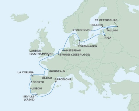 Seven Seas Voyager September 22 October 14 2016 Stockholm, Sweden to Barcelona, Spain