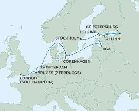 SINGLE Cruise - Balconies-Suites Seven Seas Voyager September 22 October 4 2019 Stockholm, Sweden to London (Southampton), England