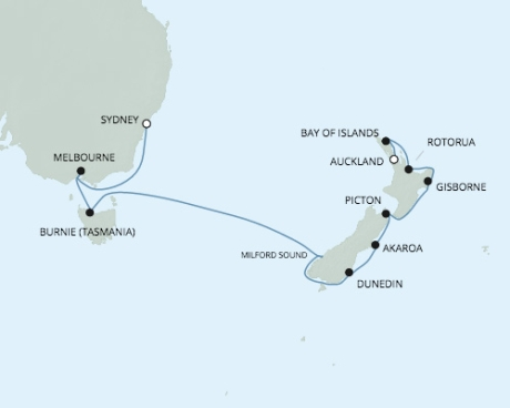 Seven Seas Voyager - RSSC January 12-26 2017 Cruises Sydney, Australia to Auckland, New Zealand