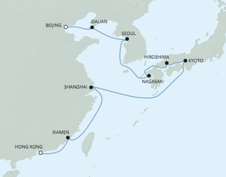 Singles Cruise - Balconies-Suites Seven Seas Voyager - RSSC March 7-23 2020 Cruises Hong Kong, China to Tianjin, China