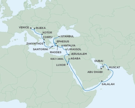 Seven Seas Voyager - RSSC May 2 June 1 2017 Cruises Abu Dhabi, United Arab Emirates to Venice, Italy