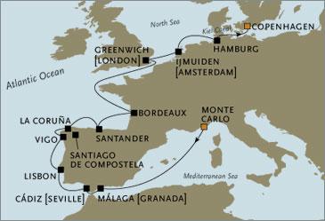Deluxe Cruises -  Navigator 2022 June Monte Carlo to Copenhagen