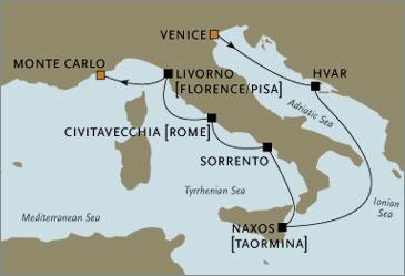 Deluxe Cruises - Seven Seas Navigator 2006 Venice to Monte Carlo May June