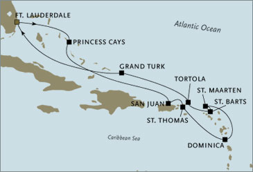 Deluxe Cruises - Seven Seas Navigator 2006 November December Fort Lauderdale to Fort Lauderdale