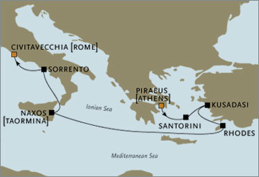 Deluxe Cruises - Seven Seas Navigator 2006 Athens to Rome October