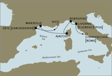Deluxe Cruises - Seven Seas Navigator 2006 Rome to Nice