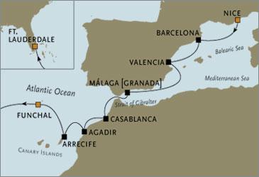 Deluxe Cruises -  Navigator 2006 Nice to Madeira November