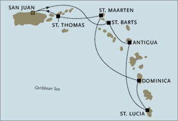 Regent  Navigator Cruises 2006 San Juan to San Juan