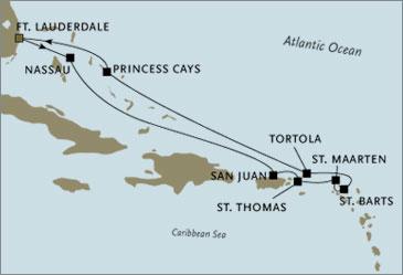 Regent Seven Seas Navigator Cruises 2022 Fort Lauderdale to Fort Lauderdale January
