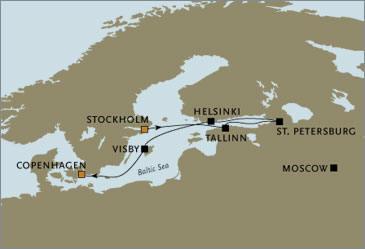Seven Seas Voyager August Visby Helsinki