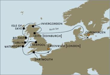 CROISIERE de luxe - Seven Seas Voyager Copenhagen London