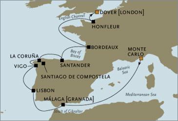 CROISIERE de luxe - Seven Seas Voyager Monte Carlo Dover