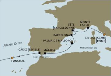 CROISIERE de luxe - Seven Seas Voyager RSSC Rome Madeira