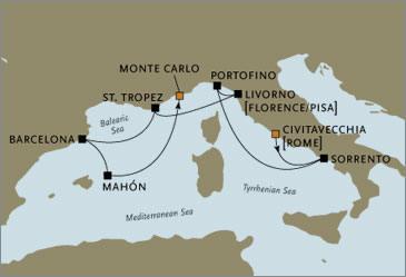 CROISIERE de luxe - Seven Seas Voyager Rome Monte Carlo