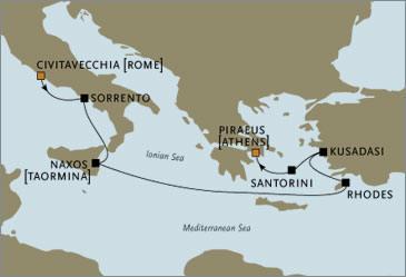 CROISIERE de luxe - Seven Seas Voyager RSSC Rome Athens