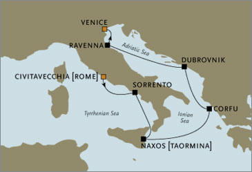 Rome to Venice  Voyager
