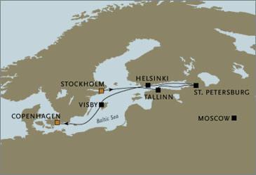 CROISIERE de luxe - Seven Seas Voyager RSSC Stockholm Copenhagen