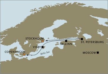 CROISIERE de luxe - Seven Seas Voyager Visby Tallinn