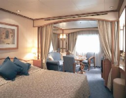 Charters, Groups, Penthouse, Balcony, Windows, Owner Suite, Veranda - Luxury Silversea Cruises Vista Suite