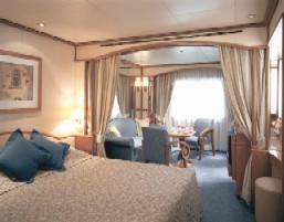 Single Balconies/Suites Silversea Cruises Vista Suite