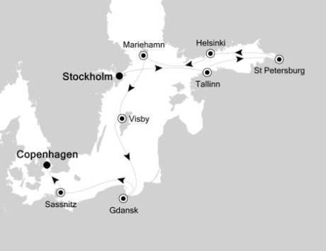 LUXURY CRUISE - Balconies-Suites Silversea Silver Cloud August 8-18 2020 Stockholm, Sweden to Copenhagen, Denmark
