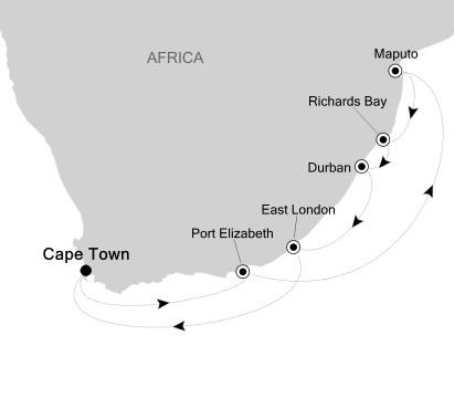 LUXURY CRUISE - Balconies-Suites Silversea Silver Cloud February 17-27 2020 Cape Town, South Africa to Cape Town, South Africa