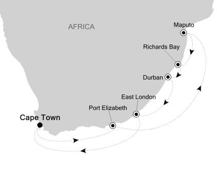 Singles Cruise - Balconies-Suites Silversea Silver Cloud January 18-28 2020 Cape Town, South Africa to Cape Town, South Africa