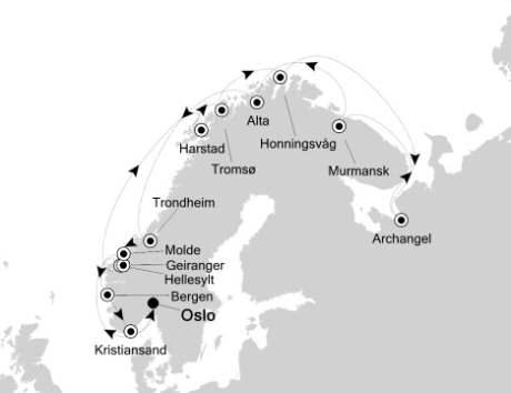 Luxury Cruises Just Silversea Silver Cloud June 20 July 7 2027 Oslo, Norway to Oslo, Norway