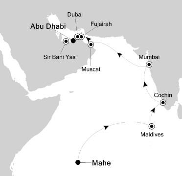 LUXURY CRUISES - Balconies and Suites Silversea Silver Cloud March 17 April 1 2017 Mahé, Seychelles to Abu Dhabi, United Arab Emirates