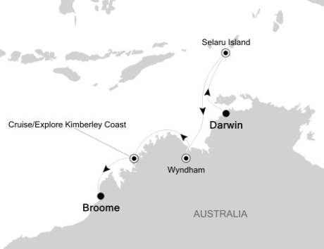 LUXURY CRUISE - Balconies-Suites Silversea Silver Discoverer April 16-26 2020 Darwin, Australia to Broome, Australia