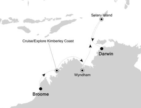 LUXURY CRUISE - Balconies-Suites Silversea Silver Discoverer April 26 May 6 2020 Broome, Australia to Darwin, Australia