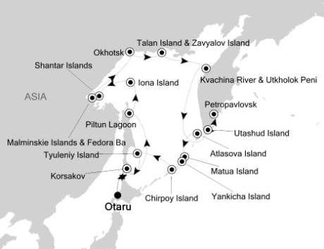 Singles Cruise - Balconies-Suites Silversea Silver Discoverer August 29 September 16 2020 Otaru, Japan to Otaru, Japan