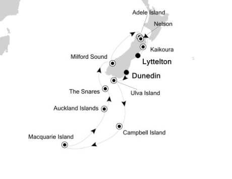 LUXURY CRUISE - Balconies-Suites Silversea Silver Discoverer January 3-19 2019 Dunedin to Lyttelton