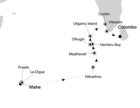 HONEYMOON Silversea Silver Discoverer January 30 February 11 2021 Mahé, Seychelles to Colombo, Sri Lanka