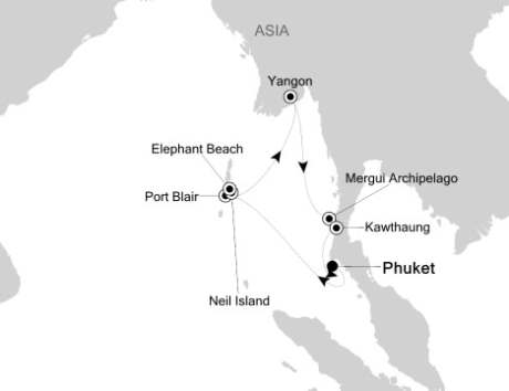 LUXURY CRUISE - Balconies-Suites Silversea Silver Discoverer November 21 December 2 2019 Phuket, Thailand to Phuket, Thailand