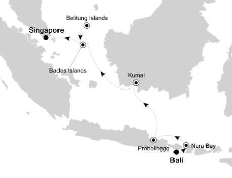 Silversea Cruise Silversea Silver Origin November 23 December 1 2027 Benoa (Bali), Indonesia to Singapore, Singapore