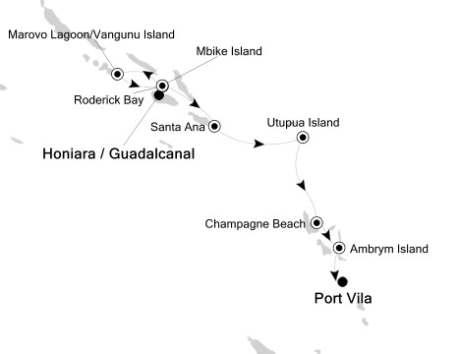LUXURY CRUISE - Balconies-Suites Silversea Silver Discoverer October 18-25 2020 Honiara, Solomon Islands to Port Vila, Vanuatu