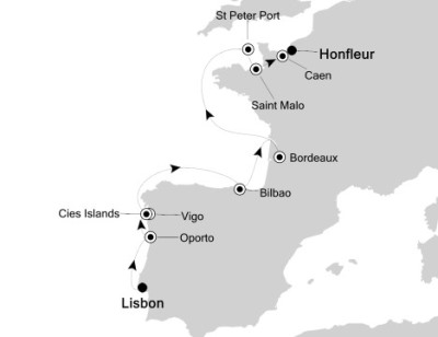 Singles Cruise - Balconies-Suites Silversea Silver Explorer May 20-31 2020 Lisbon, Portugal to Honfleur, France