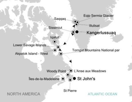Singles Cruise - Balconies-Suites Silversea Silver Explorer August 31 September 15 2020 Kangerlussuaq, Greenland to St. John's, Canada
