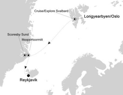 Luxury Cruises Just Silversea Silver Explorer August 8-22 2027 Longyearbyen, Svalbard And Jan Mayen to Reykjavík, Iceland