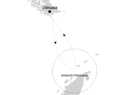 Luxury Cruises Just Silversea Silver Explorer January 27 February 6 2027 Ushuaia, Argentina to Ushuaia, Argentina
