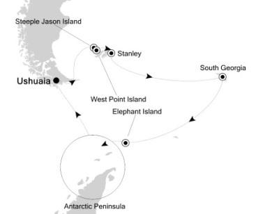 Luxury Cruises Just Silversea Silver Explorer January 9-27 2027 Ushuaia, Argentina to Ushuaia, Argentina