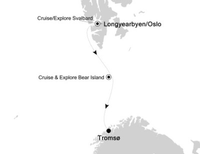 Luxury Cruises Just Silversea Silver Explorer July 19-29 2027 Longyearbyen, Svalbard And Jan Mayen to Tromso, Norway